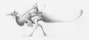 Austroraptor militia - Spec Challenge 5 by titanlizard