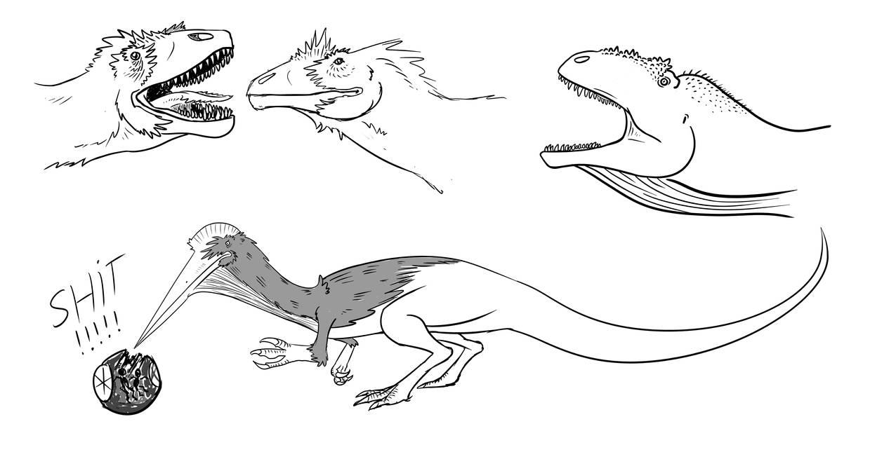 Dino Doodles by titanlizard