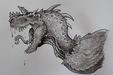 Vagorsaurus (howler) sketch