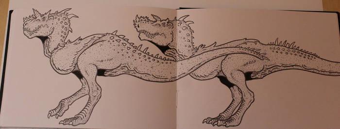 Vagorsaurus (howler) sketch 2