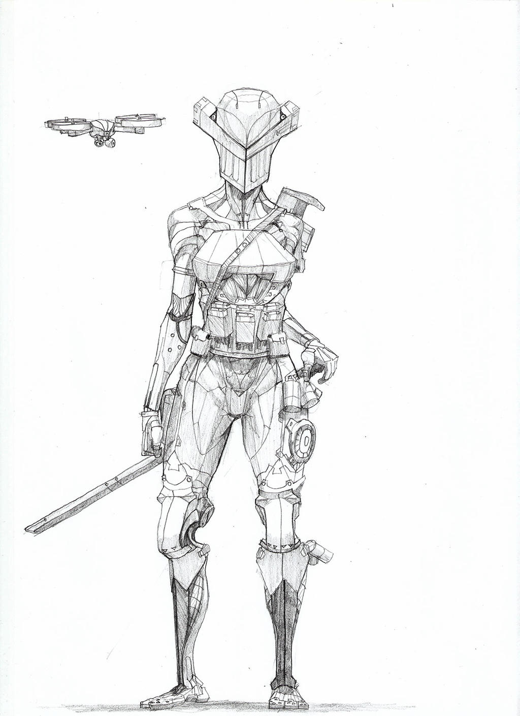 Armed cyborg by Rievil
