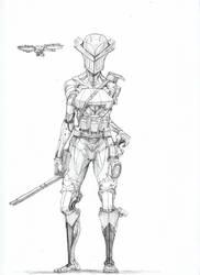 Armed cyborg