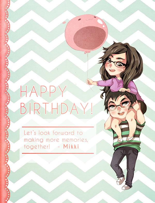 Mikki-chibi-card by PuddingPie