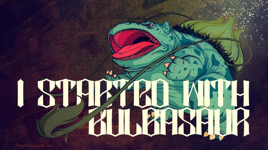 Starters: Bulbasaur by paperbeatsscissors