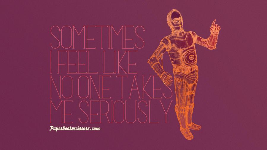 Droid Feelings: C-3PO by paperbeatsscissors