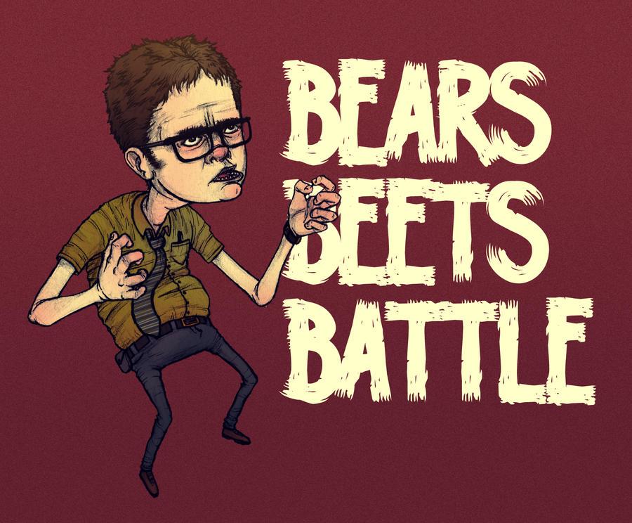 Battlin' Dwight by paperbeatsscissors