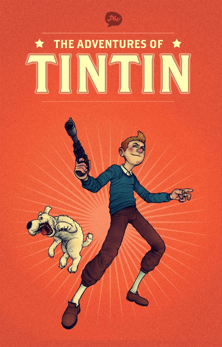 Tintin by paperbeatsscissors