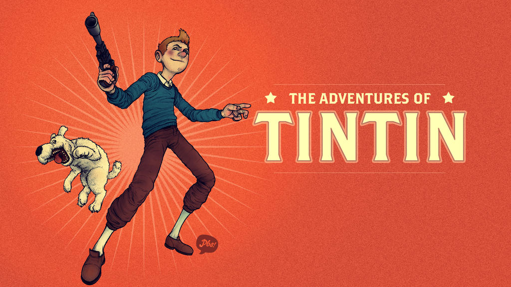 Tintin Desktop by paperbeatsscissors