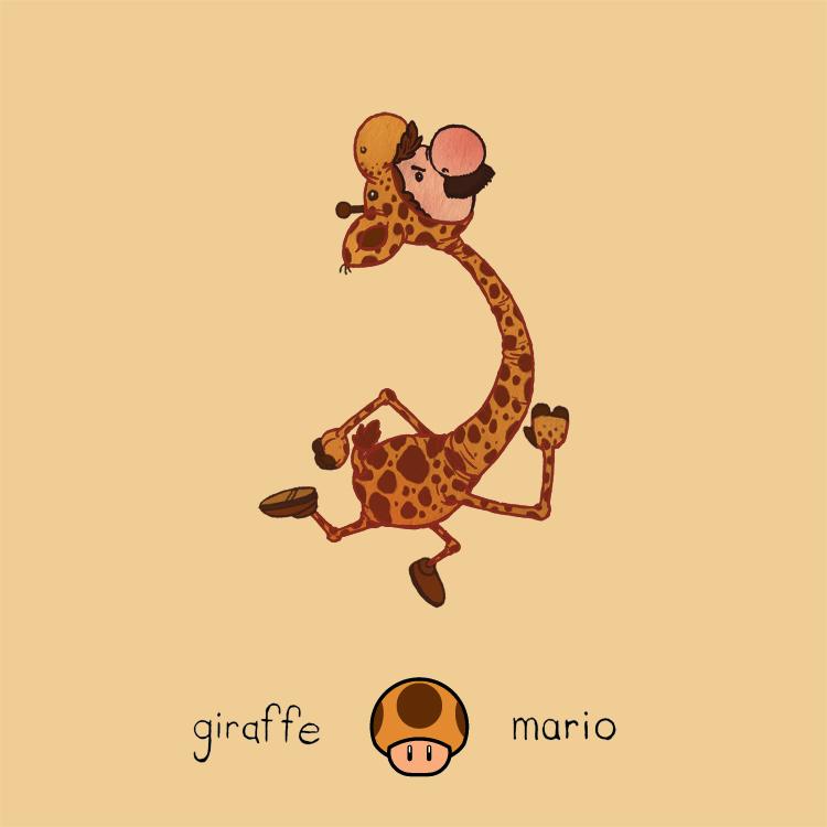 Giraffe Mario by paperbeatsscissors