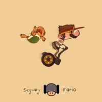 Segway Mario by paperbeatsscissors