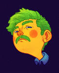 Neon Mustache