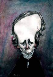 Edgar Allan Poe 01 by carloscartoons
