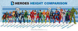 DC Heroes Height Comparison Graphic