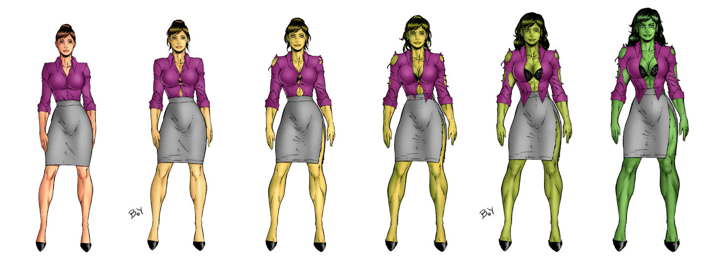 She Hulk Transformation by bradbarry2