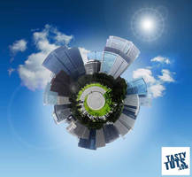 Create a Photo Planet Effect - Class 1 - Blue City by tastytuts