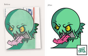 Convert a drawing into vector artwork by tastytuts