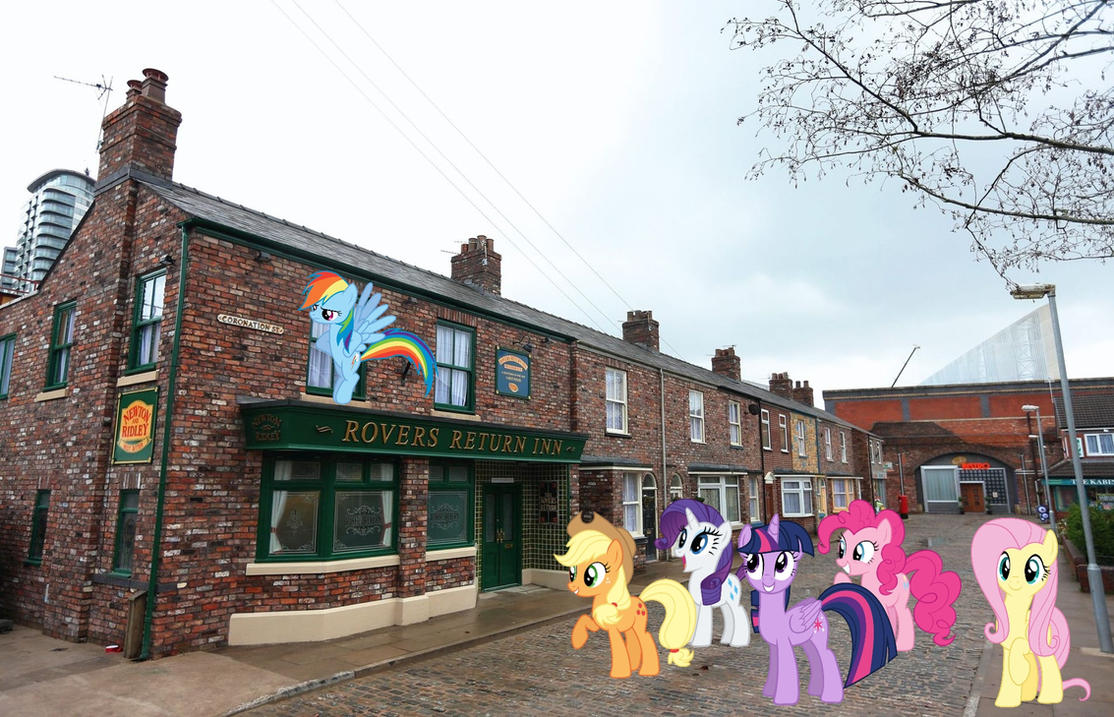 Mane six visiting Corrie by Uponia