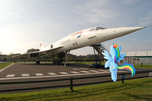 Rainbow Dash Admiring the Concorde by Uponia