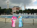 Pinkie Pie and Rainbow Dash at the Hagia Sofia