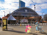 Applebloom and BlackGryphon in Manchester by Uponia