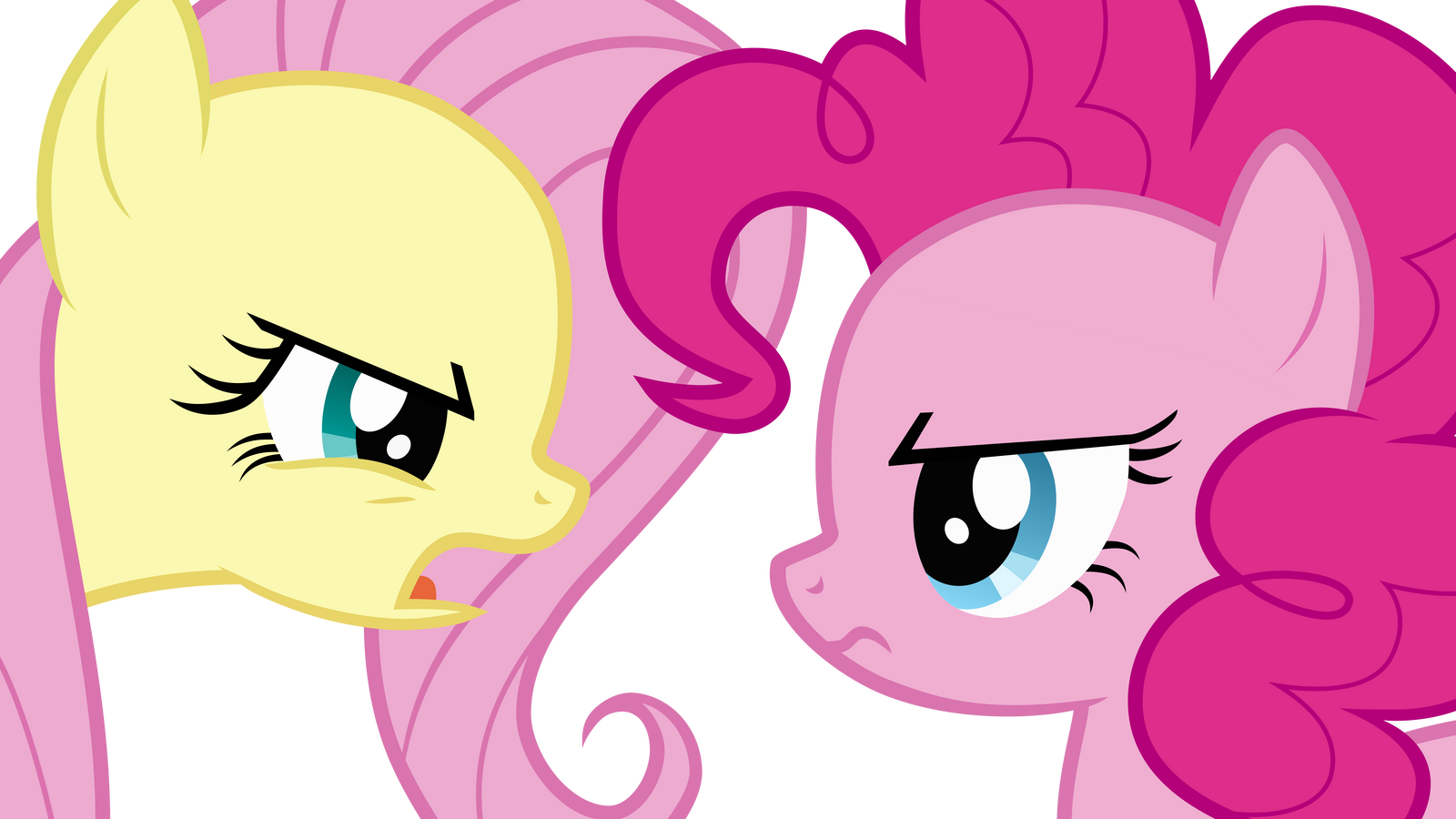 fluttershy and pinkie pie arguing by uponia on deviantart
