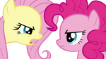 Fluttershy and Pinkie Pie Arguing