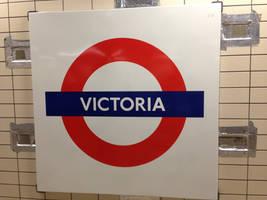 Victoria Station Sign