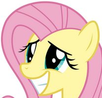 Fluttershys Pleading Smile by Uponia