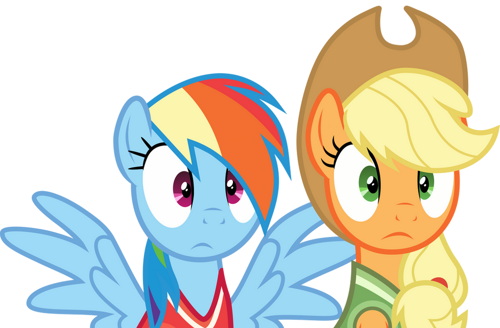 """Image - Rainbow Dash and Applejack """"fresh air in here"""" S02E16.png ..."""