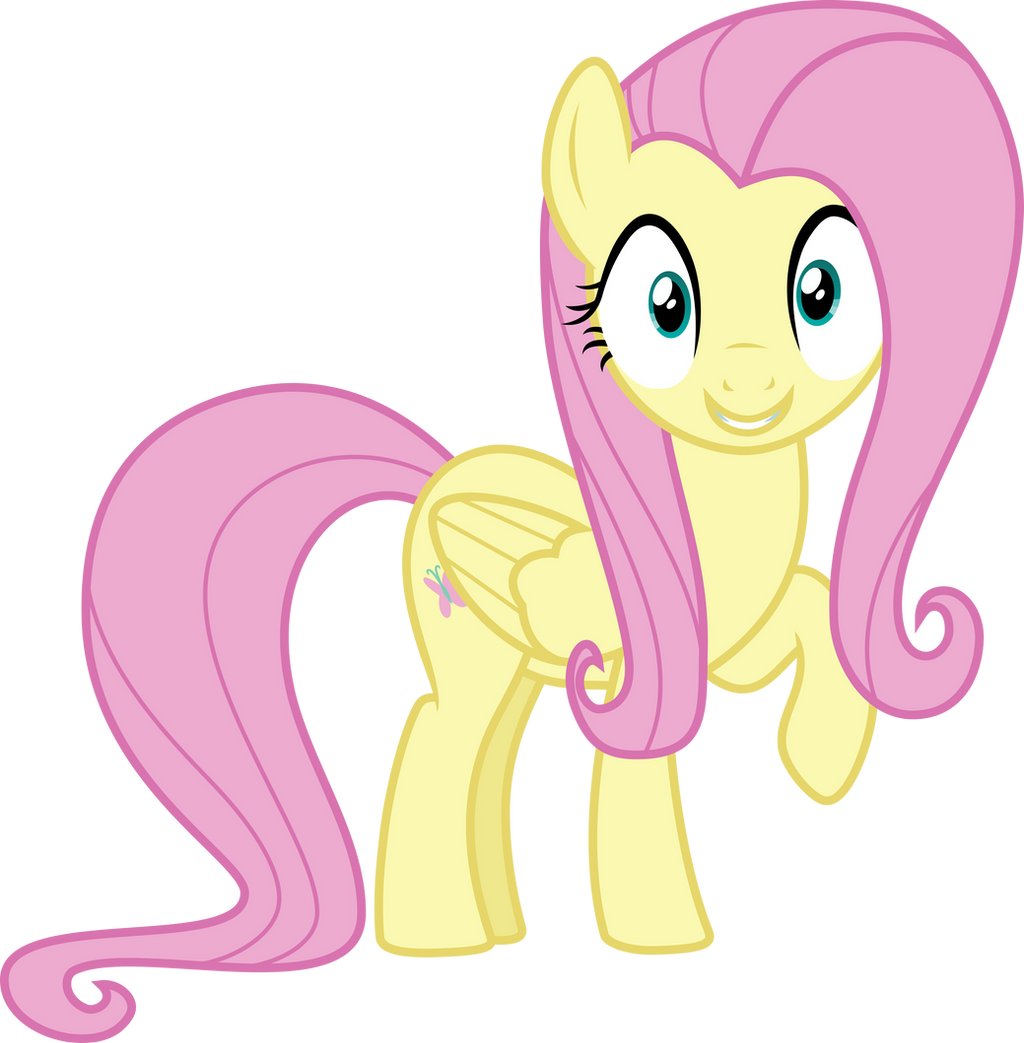 fluttershy pleased by uponia on deviantart