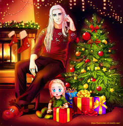 Thranduil and baby Legolas