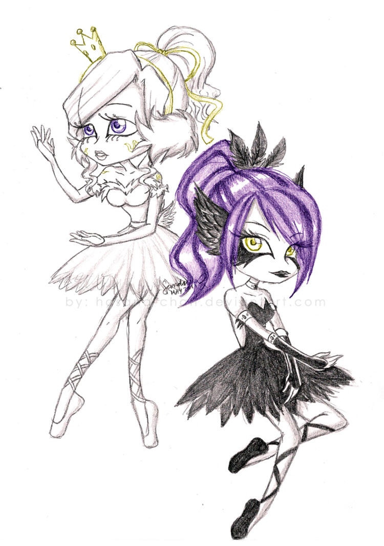 Black and White Princesses by Hasana-chan
