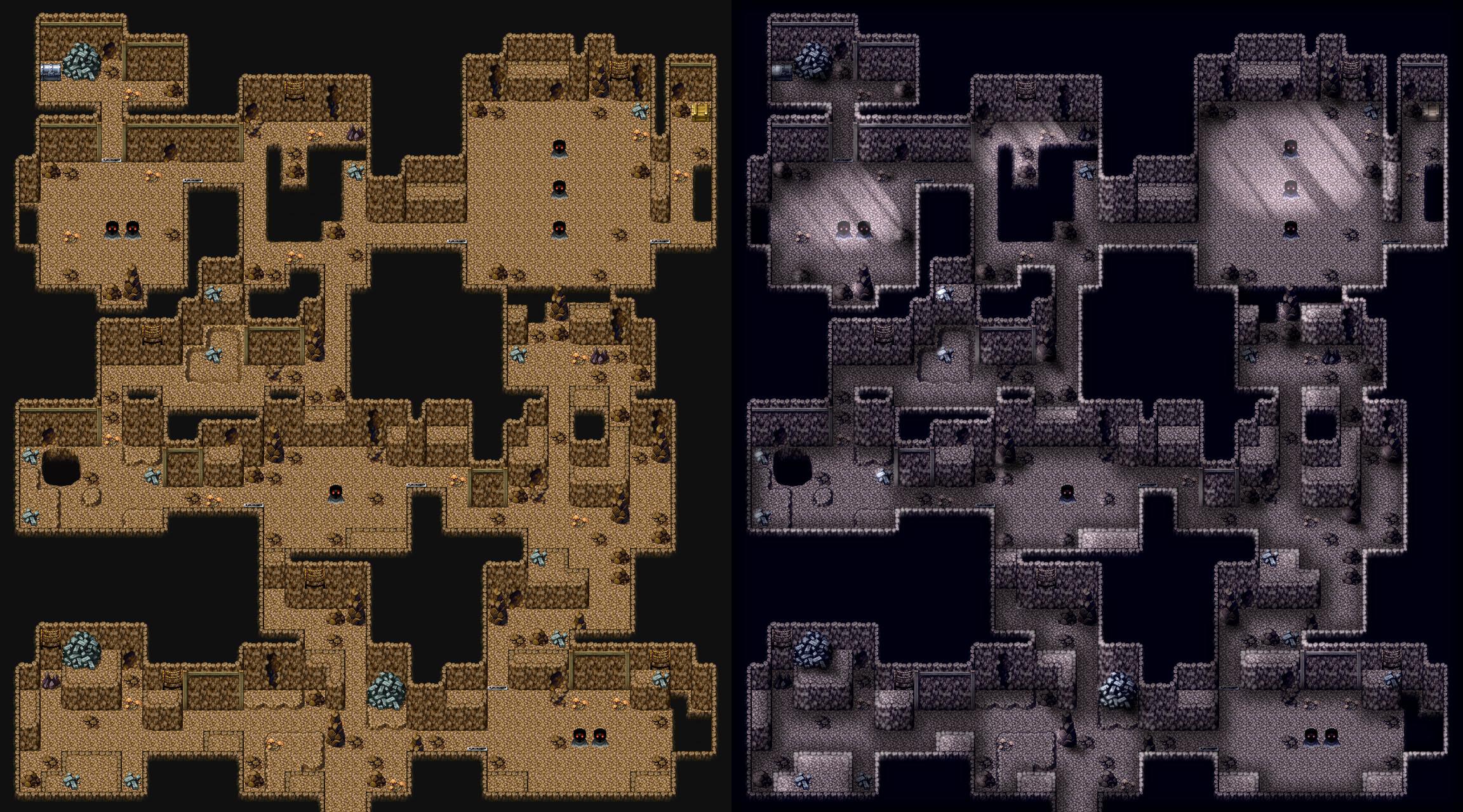 RPG Maker VX - MTEVX - Gunthurhoehle Lightmap by