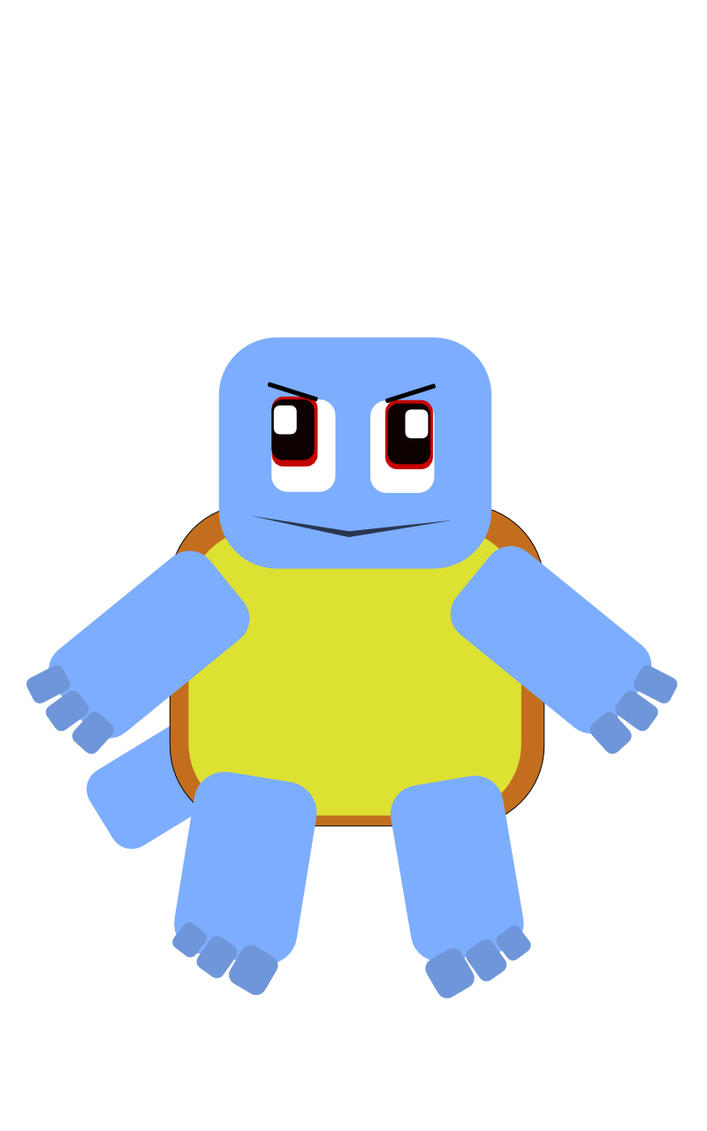 Squirtle Flat Design by gjordanra