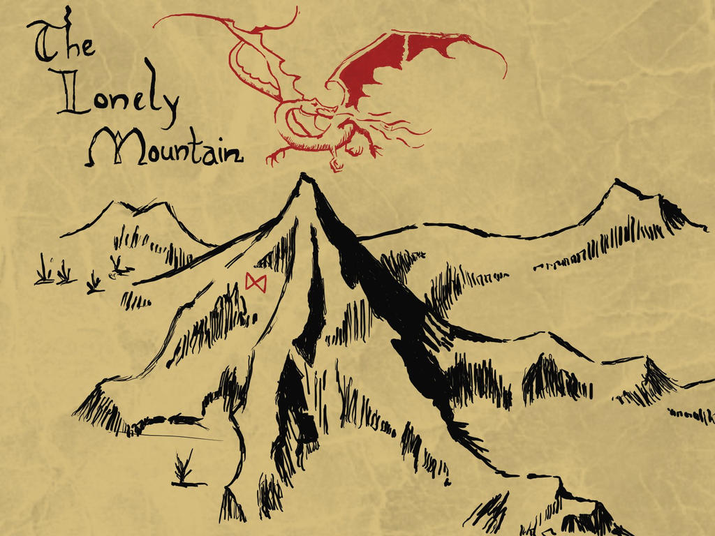 Group Of Lonely Mountain Map Wallpaper