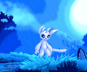 Ori and the Pixel Forest by JesseOrange
