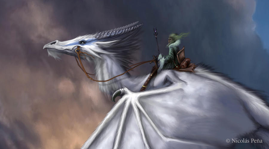 The White Dragon detail by Amisgaudi