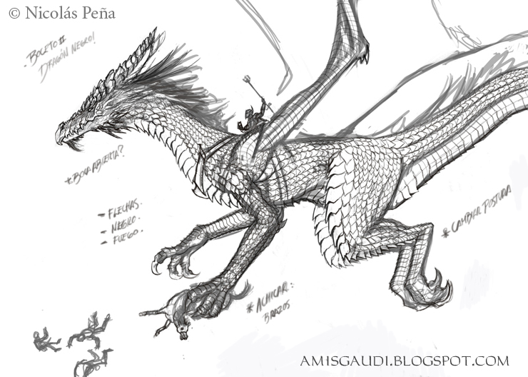 Black dragon by Amisgaudi
