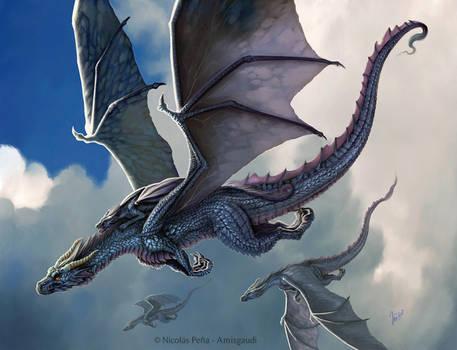 Blue Dragon. by Amisgaudi