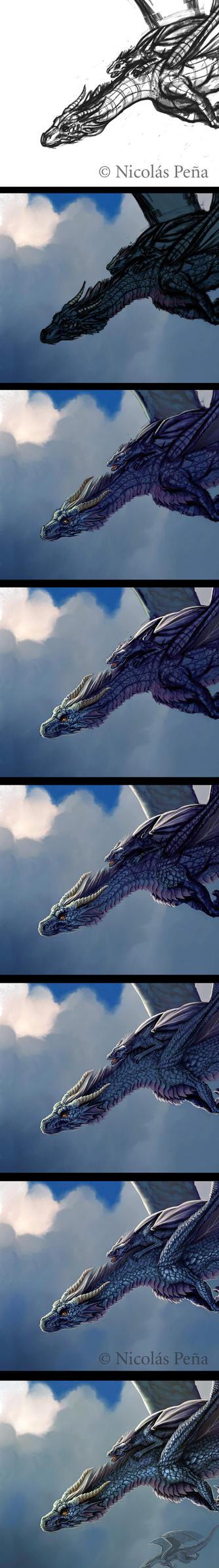 Blue Dragon, tutorial. by Amisgaudi