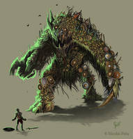 Battle Elemental by Amisgaudi