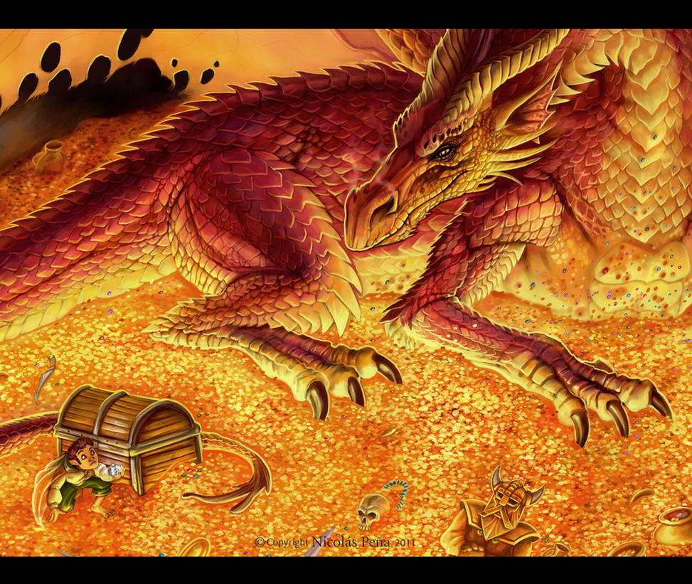 Smaug, details by Amisgaudi