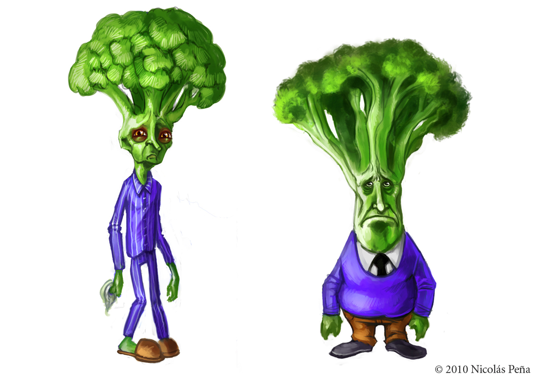 sketch, Broccoli by Amisgaudi on DeviantArt