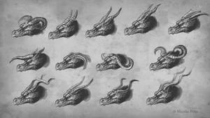 Dragon Head,  horns by Amisgaudi