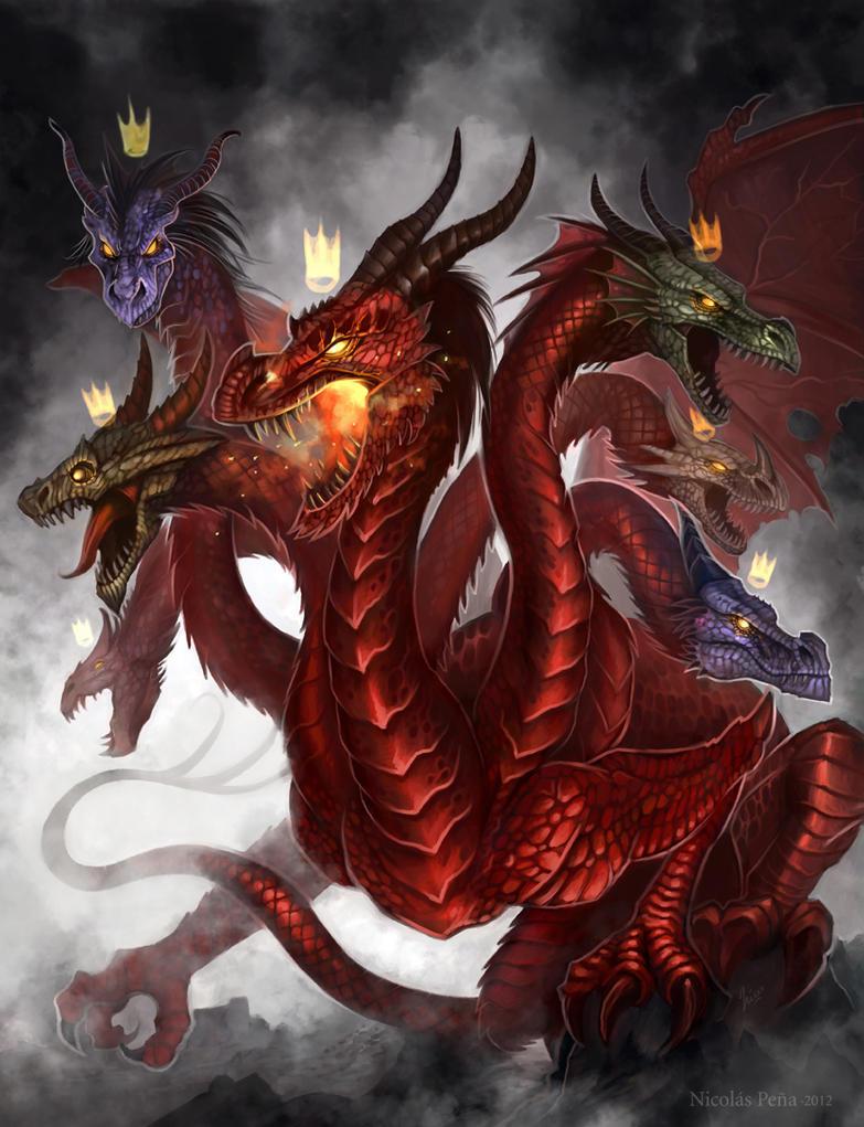 Dragon 7 head, commission by Amisgaudi