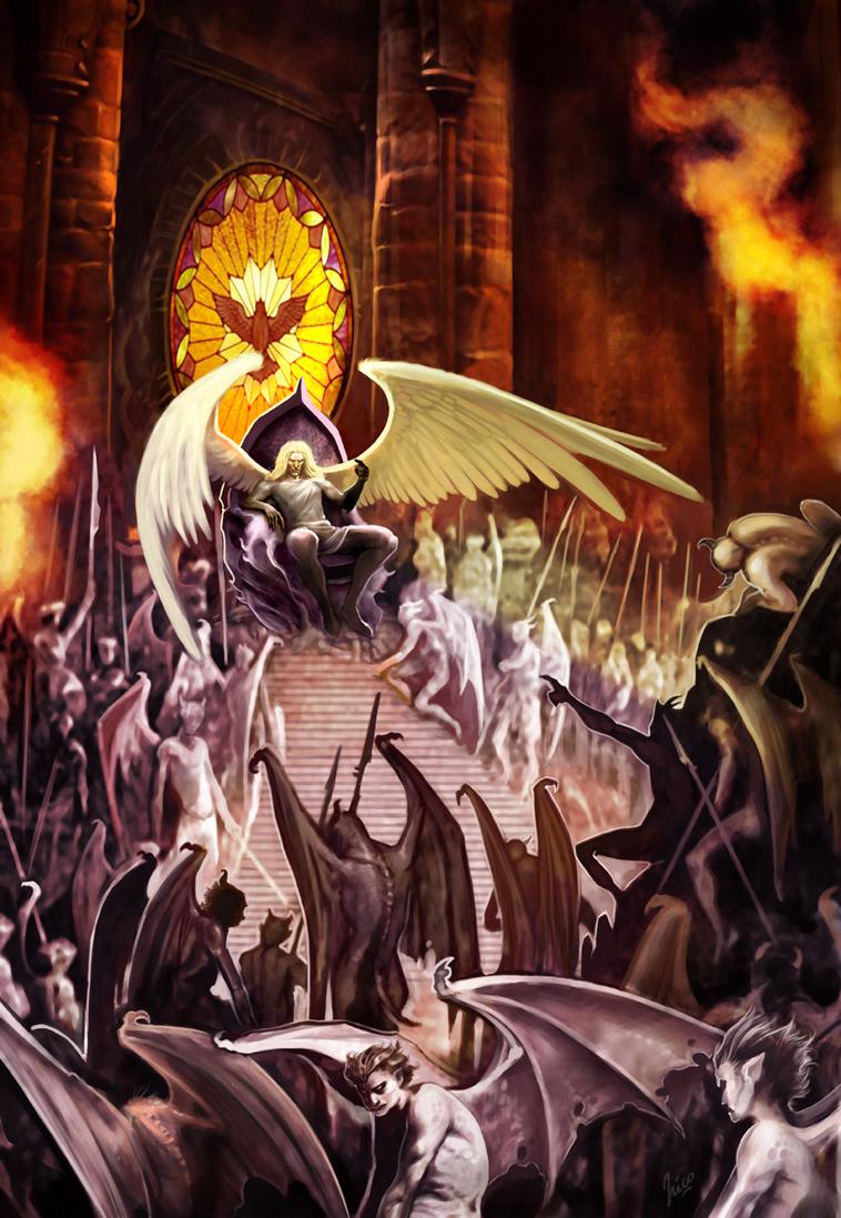 Lucifer on the throne by Amisgaudi