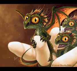 Baby dragons by Amisgaudi