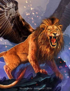 The winged Lion, commission