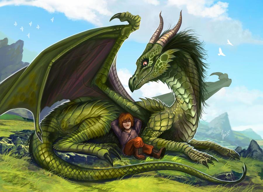 Green Dragon,  commission by Amisgaudi