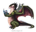 Dragon reading, commission
